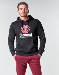 Clothing Men Sweaters Element VERTICAL HOOD Black
