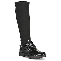 Shoes Women High boots Regard CANET V1 VERNIS NOIR Black
