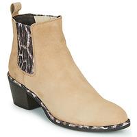 Shoes Women Ankle boots Regard NOISY V7 VELOURS SAFRAN Beige