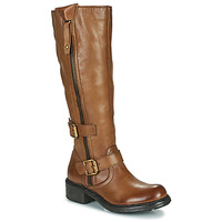Shoes Women High boots Dream in Green NUCETTE Camel
