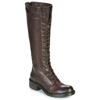 Shoes Women High boots Dream in Green NUCRE Brown