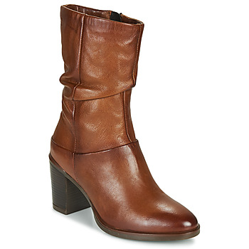 Shoes Women High boots Dream in Green NORGE Camel