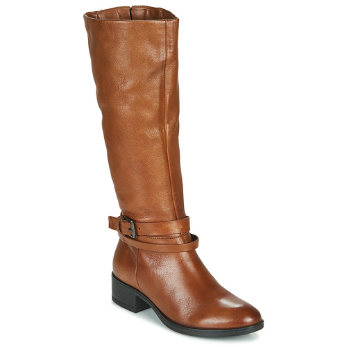 Shoes Women High boots Dream in Green NOURON Camel