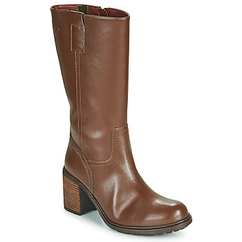 Shoes Women High boots Dream in Green NISCUIT Brown