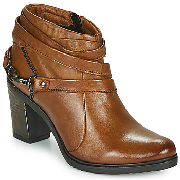 Shoes Women Ankle boots Dream in Green NEGUS Camel