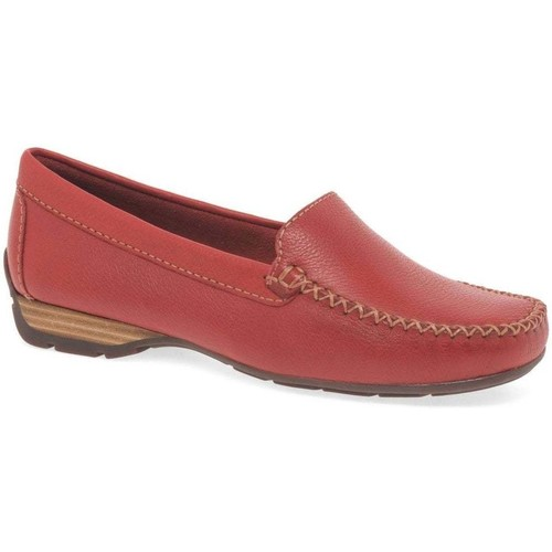 Shoes Women Loafers Charles Clinkard Sun II Womens Moccasins red