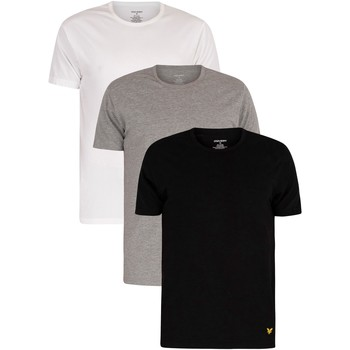 Clothing Men Short-sleeved t-shirts Lyle & Scott 3 Pack Maxwell Lounge Crew T-Shirts multicoloured