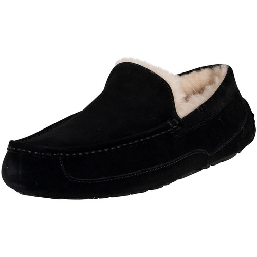Shoes Men Slippers UGG Ascot Suede Slippers black