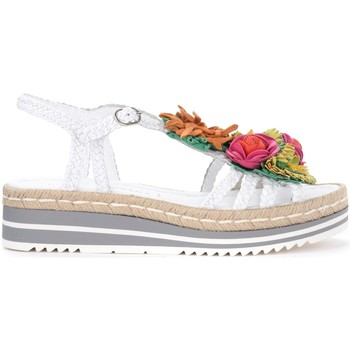 Shoes Women Sandals Pon´s Quintana Milan model sandal in white woven leather with applied White