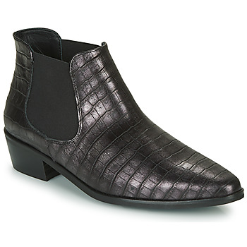 Shoes Women Mid boots Fericelli NANARUM Black / Silver