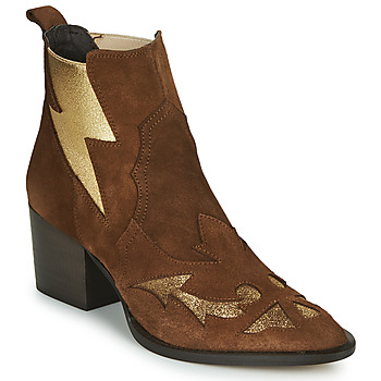 Shoes Women Ankle boots Fericelli NAUSSON Beige / Gold