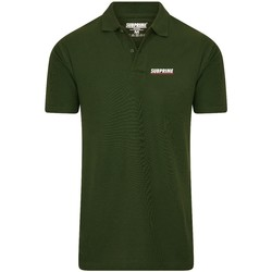 Clothing Men short-sleeved polo shirts Subprime Polo Stripe Army Green