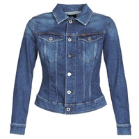 Clothing Women Denim jackets G-Star Raw 3301 SLIM JKT WMN Faded / Stone