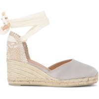 Shoes Women Espadrilles Castaner Carina wedge sandal in gray and dove gray canvas and jute Grey