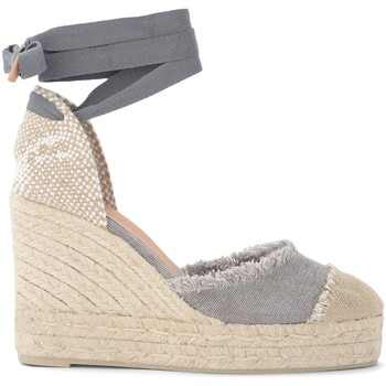 Shoes Women Espadrilles Castaner Catalina gray wedge sandal in canvas and jute Grey