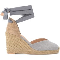 Shoes Women Espadrilles Castaner Chiara wedge sandal in gray canvas and fabric Grey