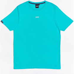 Clothing Boy Short-sleeved t-shirts Wrung T-shirt  Caution Reload bleu turquoise/bleu