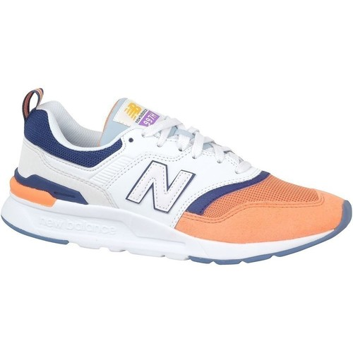 Shoes Women Low top trainers New Balance 997 White, Orange