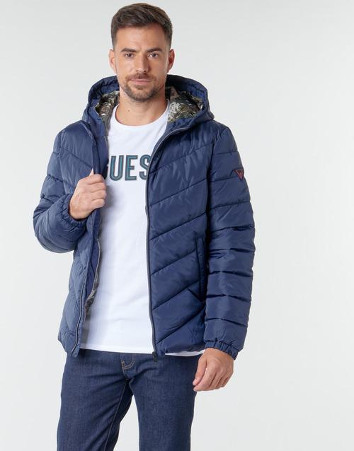 Clothing Men Duffel coats Guess SUPER LIGHT PUFFA JKT Marine