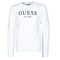 Clothing Men Sweaters Guess BASTIAN CN FLEECE White