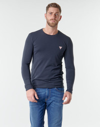 Clothing Men Long sleeved tee-shirts Guess CN LS CORE TEE Marine