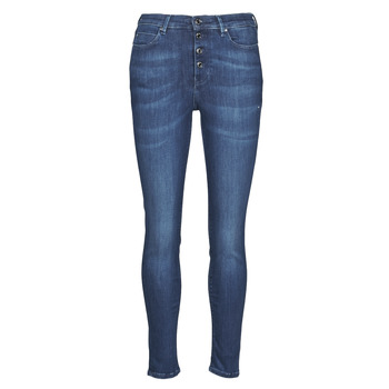 Clothing Women Slim jeans Guess 1981 EXPOSED BUTTON POWER Blue / Dark