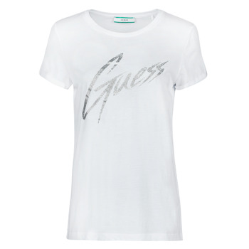 Clothing Women Short-sleeved t-shirts Guess SS CN IVONNE TEE White