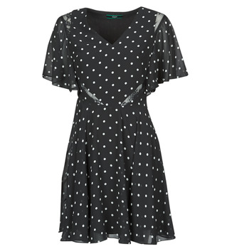 Clothing Women Short Dresses Guess ELLA DRESS Black / White