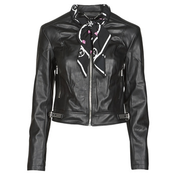 Clothing Women Leather jackets / Imitation leather Guess NEW JONE JACKET Black
