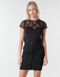Clothing Women Tops / Blouses Guess LOU TOP Black