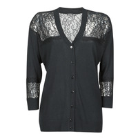 Clothing Women Jackets / Cardigans Guess IRENE CARDI SWTR Black