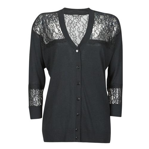 Clothing Women Jackets / Cardigans Guess IRENE CARDI SWTR Black