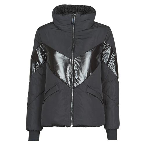 Clothing Women Duffel coats Guess ORIETTA REVERSIBLE Black
