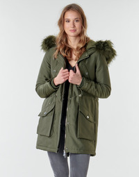 Clothing Women Parkas Guess TRUDY Kaki