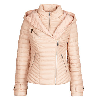 Clothing Women Leather jackets / Imitation leather Guess BRETA Pink / Powder