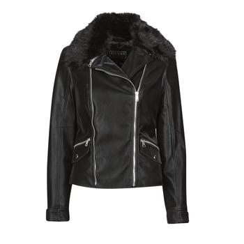Clothing Women Leather jackets / Imitation leather Guess CANTARA Black