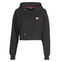 Clothing Women Sweaters Guess HOODY MINI TRIANGLE Black