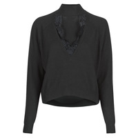 Clothing Women Jumpers Guess FATIMA TURTLE Black