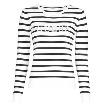 Clothing Women Jumpers Guess ZOE Black / White