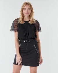 Clothing Women Tops / Blouses Guess GERDA Black