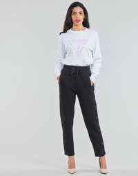 Clothing Women 5-pocket trousers Guess AVIGAIL Black