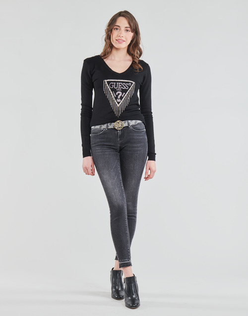 Clothing Women Skinny jeans Guess HOXTON Black