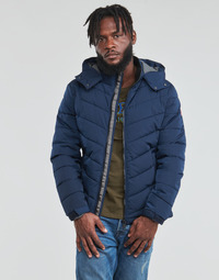 Clothing Men Duffel coats Guess STRETCH PUFFA HOODED Marine