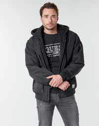 Clothing Men Jackets Guess NAUGHTY BOMBER Black