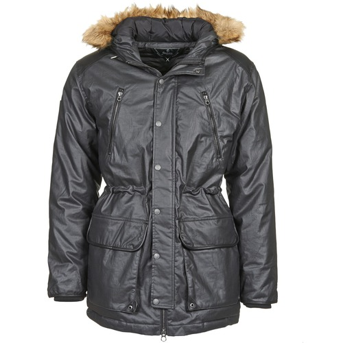 Clothing Men Parkas Le Temps des Cerises CAYNE Black