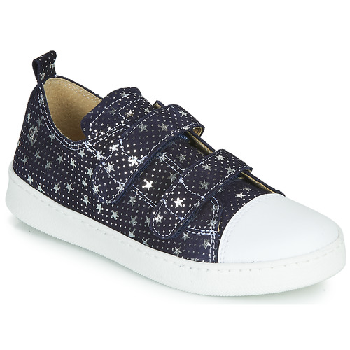 Shoes Girl Low top trainers Citrouille et Compagnie NADIR Marine / Silver