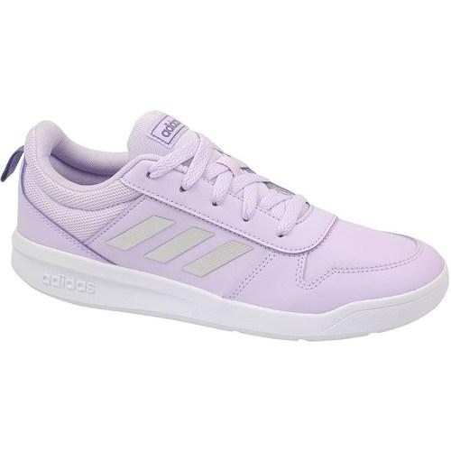 Shoes Children Low top trainers adidas Originals Tensaur K White,Violet