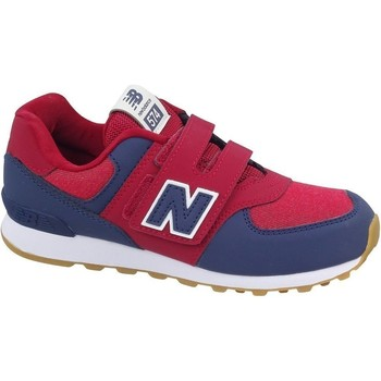 Shoes Boy Low top trainers New Balance 574 Burgundy,Navy blue