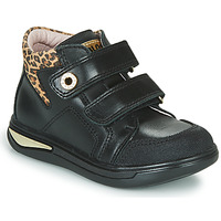 Shoes Girl Hi top trainers Pablosky 490611 Black / Leopard