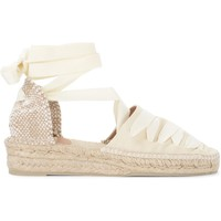 Shoes Women Espadrilles Castaner Gina wedge sandal in ivory canvas White